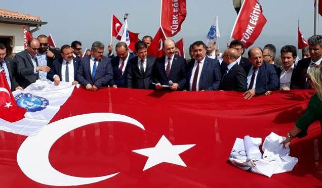 """Türk Eğitim-Sen üyelerinden """"Zeytin Dalı Harekatına"""" destek Ziyareti"""