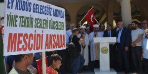 Kırıkhan'da İsrail'i Kınama Mitingi Gerçekleştirildi.