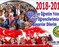 """BAŞKAN YAVUZ; """"2018-2019 EĞİTİM VE ÖĞRETİM YILI HAYIRLI OLSUN"""""""
