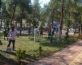 Kırıkhan'da Denetimli Serbestlik Yükümlüleri Yeşil Alanlarda Boyama Yapıyor